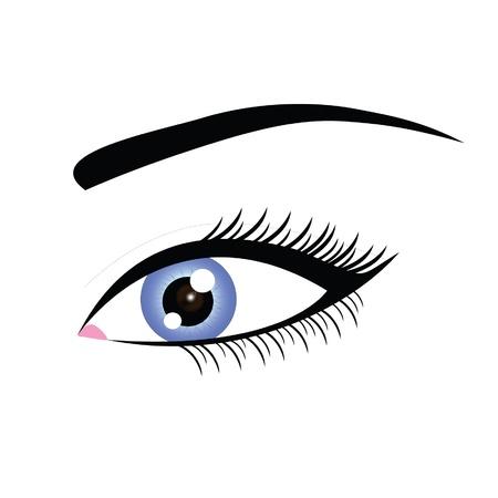 brow: blue eye woman Illustration