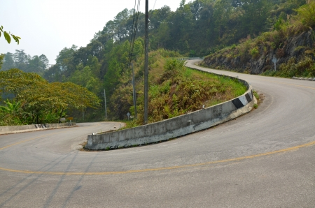 Curved road at Doi Ang Khang photo