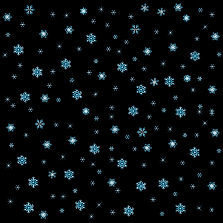 snow on black background Vector