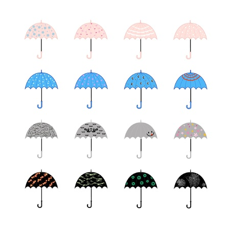 umbrella on white background Vector