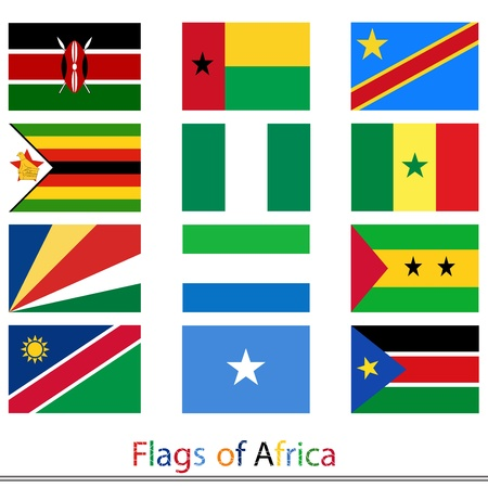Flags of Africa set Vector