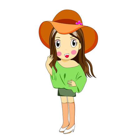 dibujos animados de mujeres: Vector de las mujeres de dibujos animados