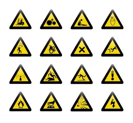 laser radiation: Danger warning sign vector Illustration