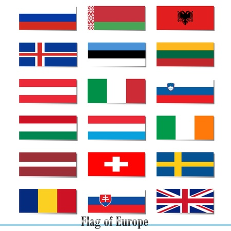 Vector flags set of Europe Vector