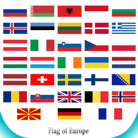 Flags set of Europe Vector