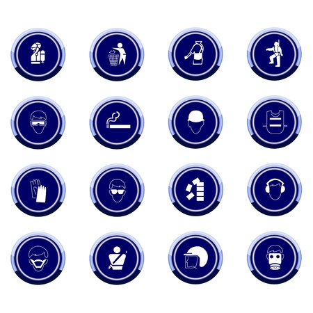 Vector set of mandatory signs Illustration