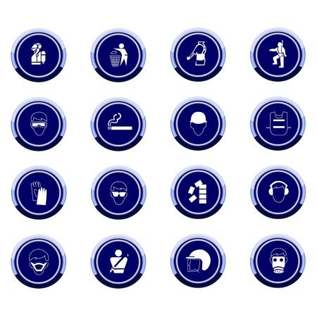 Vector set van gebodsborden