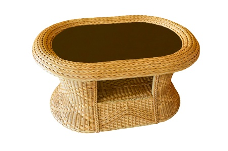 Table made of bamboo