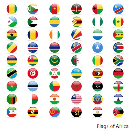 Circle of the flag Africa vector Illustration