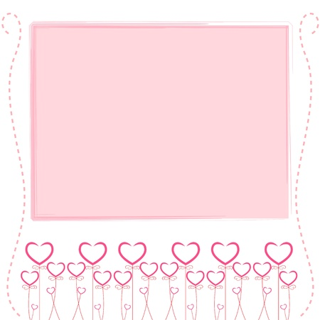 Cute pink background,cute card of love Vector