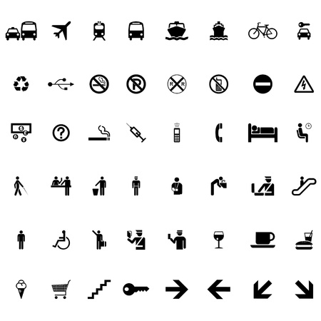 Set of signs and symbols vector