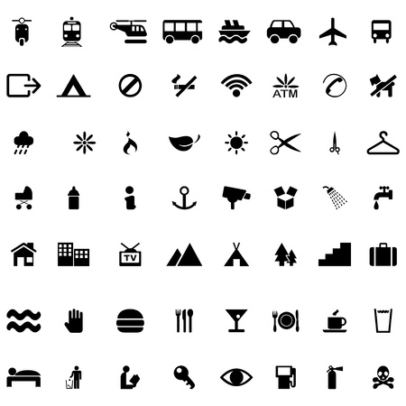 Icon vector set on white background Vector
