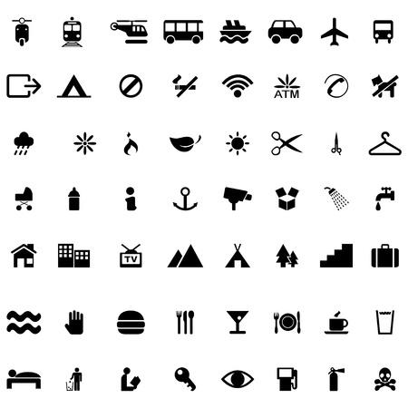 Icon vector set on white background