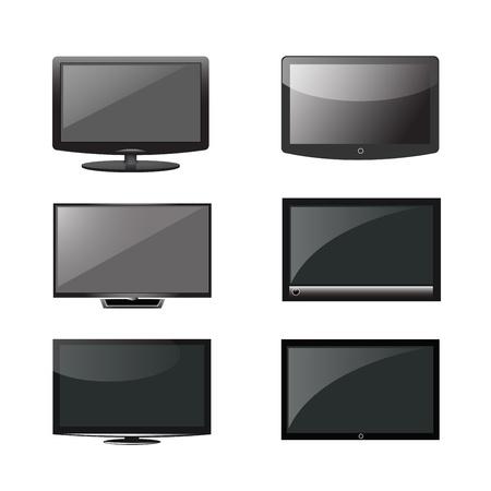lcd screen: Television vector set