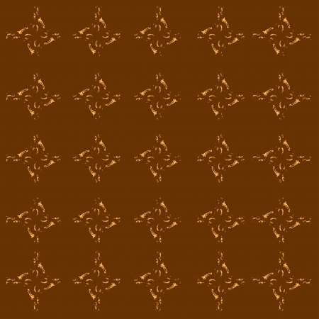 Seamless background of brown pattern with classy design Vector