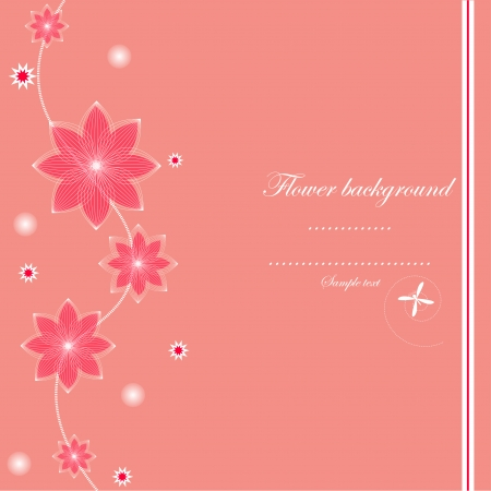 Pink card design vector Vector