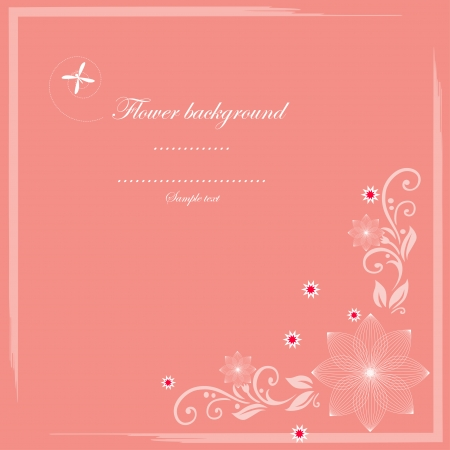 Cute card vector and flower pattern Vector