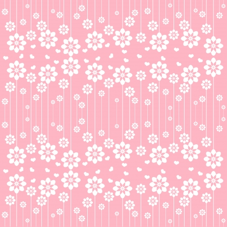 Vector of white flowers template Vector