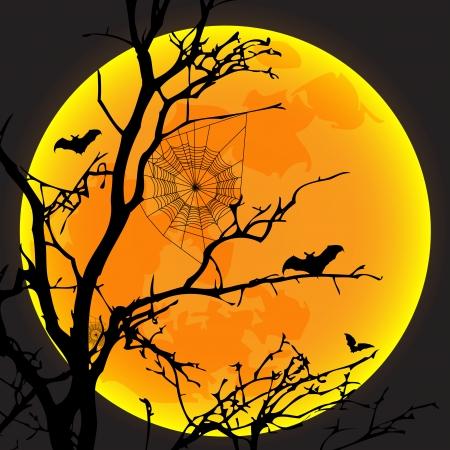 Vector illustratie ontwerp van halloween dag