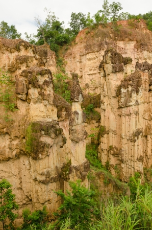 Sandstone cliffs at Kad Muang Phee Thailand Stock Photo - 22664344