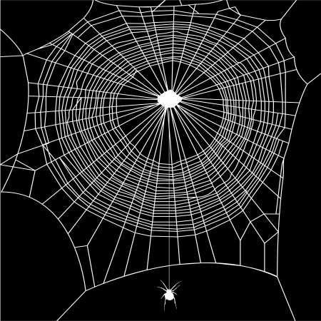 cobwebby: cobweb vector on black background