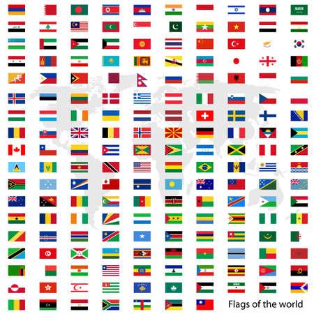 banderas del mundo: Banderas del vector del mundo Vectores