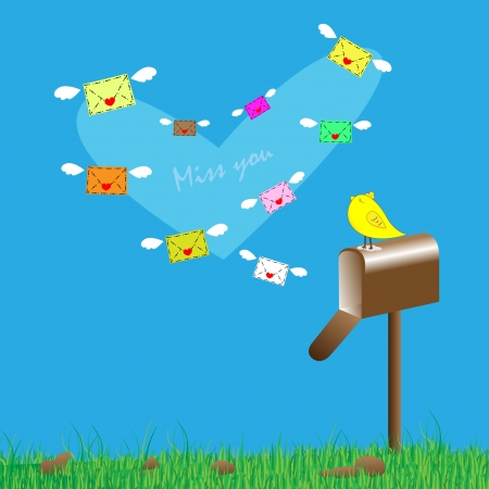 Love letters and mailbox