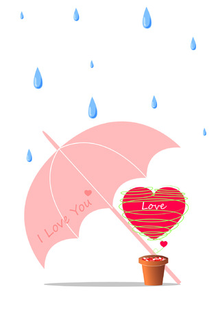 Heart shape vector background for love in valentine day