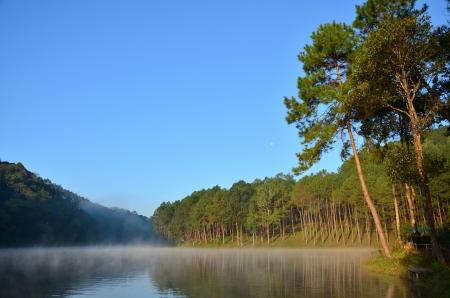Lake and river view of Pang Ung at Mae Hong Son,Thailand photo