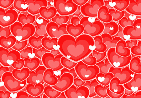 Love hearts of valentine s day Vector