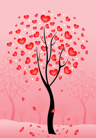 Love valentine card vector background Vector