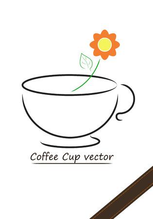 Coffee cup vector design,illustration of coffee cup Vector