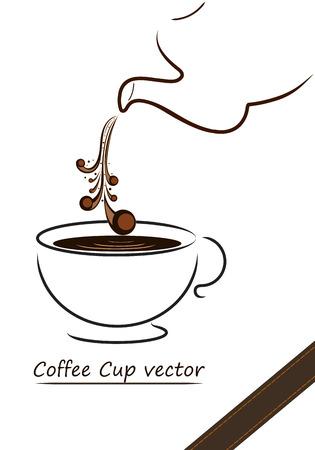 コーヒーカップ: コーヒー カップのベクトルのデザイン、コーヒー カップのイラスト