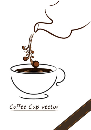 Coffee cup vector design,illustration of coffee cup Vector