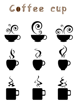 set of coffee cup icon Vector
