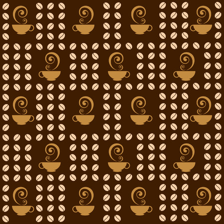 coffee beans and cup background Vector