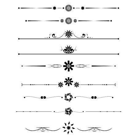 dashes: calligraphic line design vector for decoration Illustration