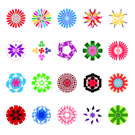 naturism: vector of colorful flower shape