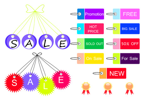sale tag design set Vector