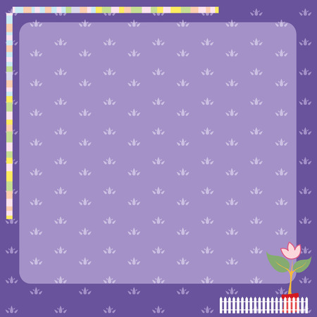 Violet pattern and frame vector Vector