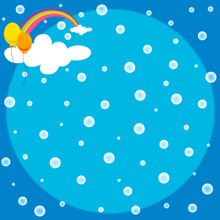 cute background of rainbow and steam vector Vector