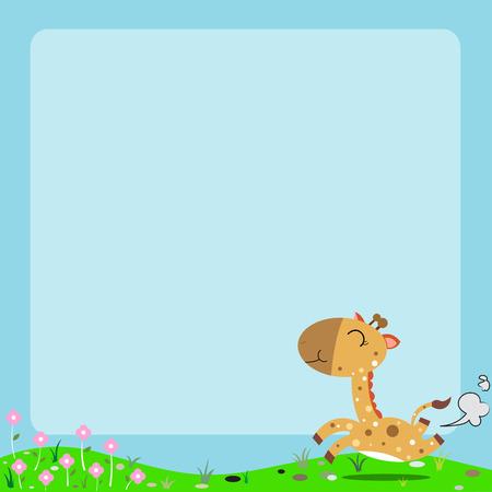 Cartoon animal frame  Vector