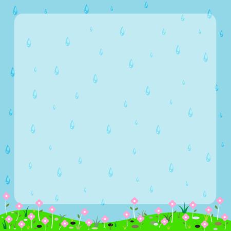 Cartoon nature frame vector Vector