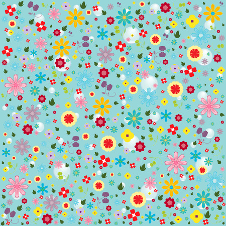 flowers pattern background photo