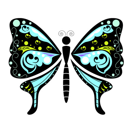 butterfly isolated: Butterfly vector isolated