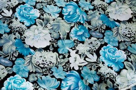 flower pattern on the fabric photo