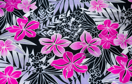 Seamless flower pattern on the fabric photo
