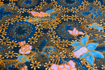 Thai style seamless pattern on the fabric photo