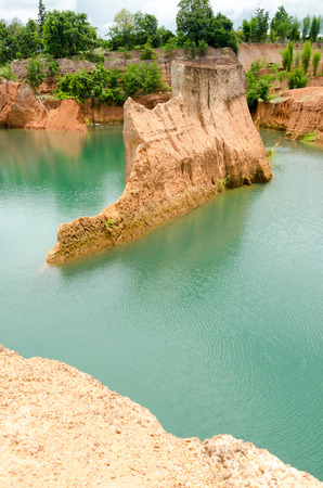 Large reservoirs and high mound in Thailand photo