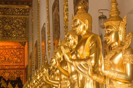 The buddha statue in Wat Ban Den,the temple in Chiang Mai Thailand